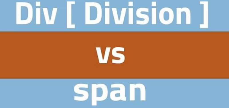 div and span HTML - Difference between block and linear tags