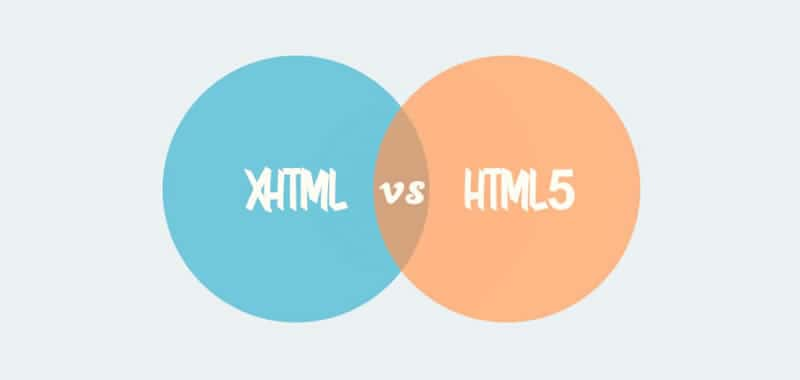 Difference and evolution of the HTML, XHTML and HTML5 versions
