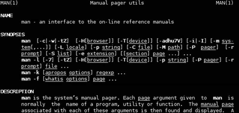 The online manual. Documentation of UNIX, Linux and GNU | Websites Management | This section and the following introduce the different documentation mechanisms that exist in UNIX and Linux. It is very important to move with agility between them, since they represent a valuable help for any UNIX user