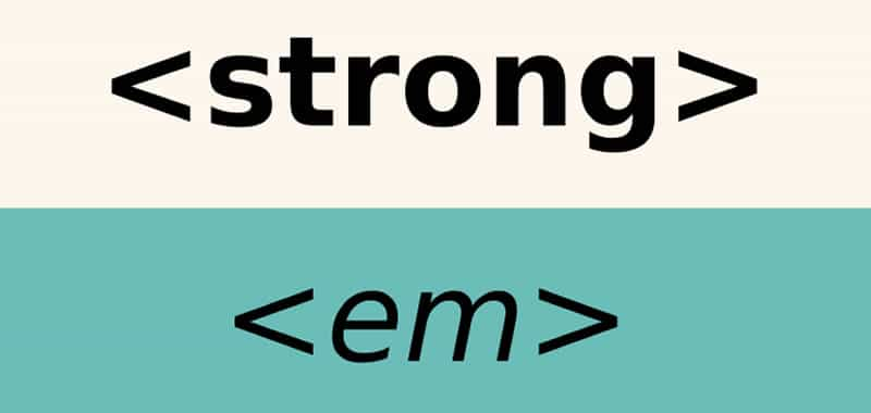 Text in a Website - Differences tags strong, em, b, i, u