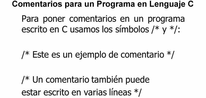 Cómo insertar comentarios en Lenguaje C - ¿Para qué sirven? | Aprender Programación en C | Un comentario sirve para generar anotaciones al programador en el código fuente del programa, así como también para desactivar una o más instrucciones