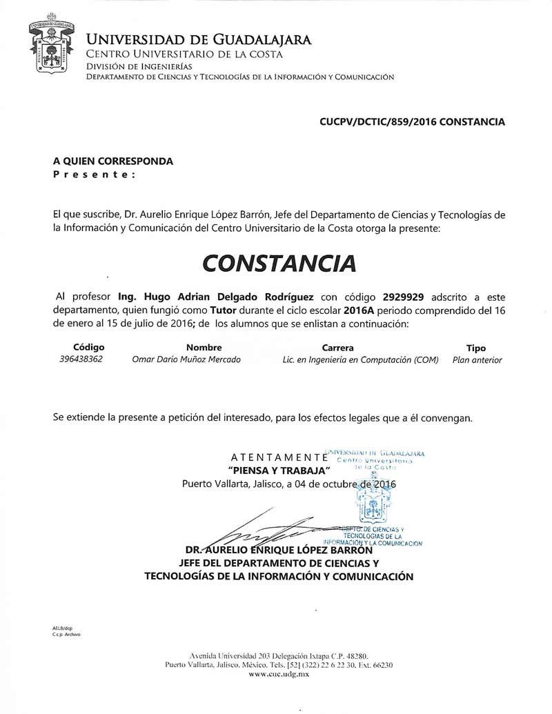 Curriculum Ingeniero en Computación Hugo Delgado